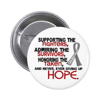 Supporting Admiring Honoring 3.2 Brain Tumor Pinback Buttons