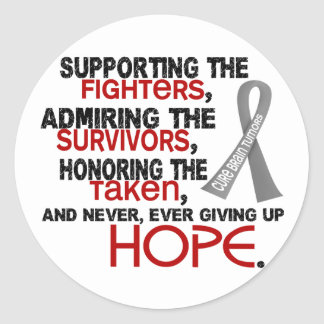 Supporting Admiring Honoring 3.2 Brain Tumor Classic Round Sticker