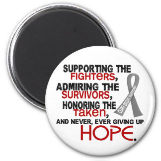 Supporting Admiring Honoring 3.2 Brain Tumor Refrigerator Magnets