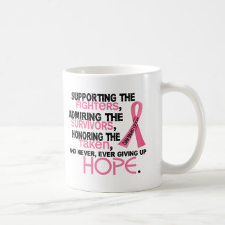 Supporting Admiring Honoring 3.2 Breast Cancer Coffee Mug