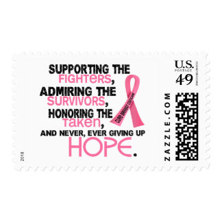 Supporting Admiring Honoring 3.2 Breast Cancer Postage