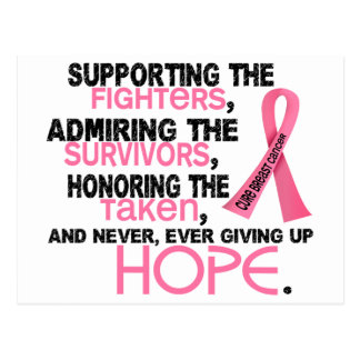 Supporting Admiring Honoring 3 2 Breast Cancer Postcard
