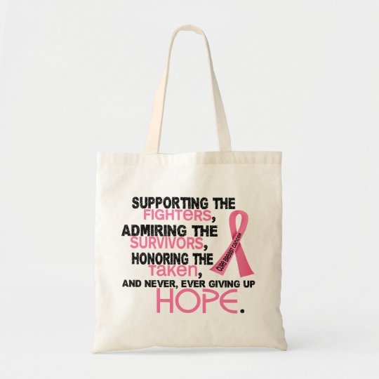 Supporting Admiring Honoring 3.2 Breast Cancer Tote Bag