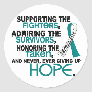 Supporting Admiring Honoring 3.2 Cervical Cancer Classic Round Sticker