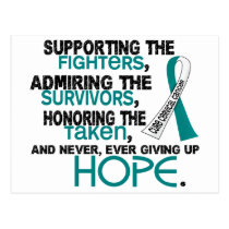 Supporting Admiring Honoring 3.2 Cervical Cancer Postcard