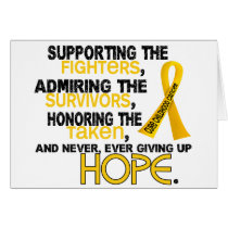 Supporting Admiring Honoring 3.2 Childhood Cancer