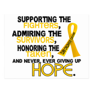 Supporting Admiring Honoring 3.2 Childhood Cancer Postcard