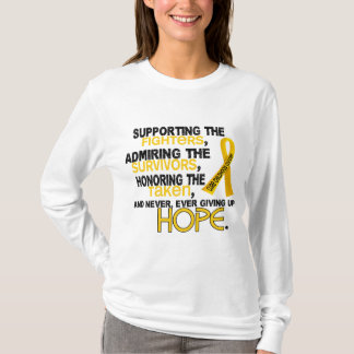 Supporting Admiring Honoring 3.2 Childhood Cancer T-Shirt