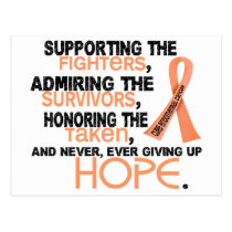Supporting Admiring Honoring 3.2 Endometrial Cance Postcard