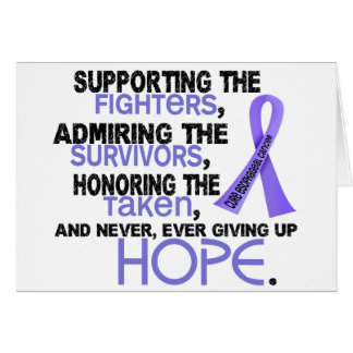 Supporting Admiring Honoring 3.2 Esophageal Cancer Greeting Card
