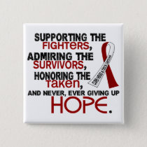 Supporting Admiring Honoring 3.2 Head Neck Cancer Pinback Button