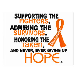 Supporting Admiring Honoring 3.2 Kidney Cancer Postcard