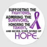 Supporting Admiring Honoring 3.2 Leiomyosarcoma Classic Round Sticker