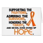 Supporting Admiring Honoring 3.2 Leukemia Cards