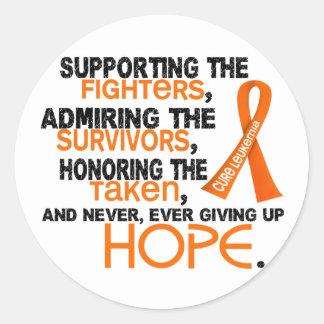 Supporting Admiring Honoring 3.2 Leukemia Classic Round Sticker