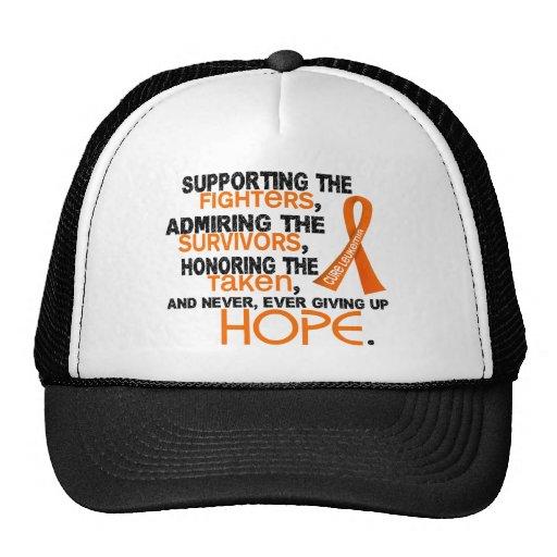 Supporting Admiring Honoring 3.2 Leukemia Trucker Hat
