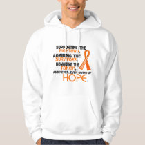 Supporting Admiring Honoring 3.2 Leukemia Hoodie