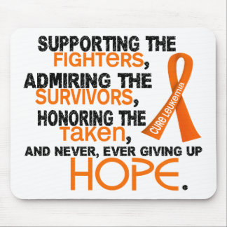 Supporting Admiring Honoring 3.2 Leukemia Mouse Pad