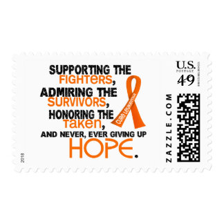 Supporting Admiring Honoring 3.2 Leukemia Stamps