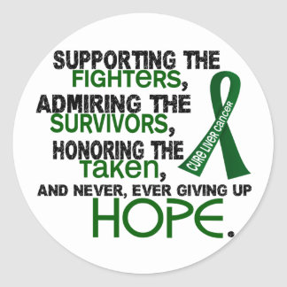 Supporting Admiring Honoring 3.2 Liver Cancer Classic Round Sticker