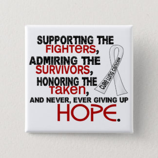 Supporting Admiring Honoring 3.2 Lung Cancer Pinback Button