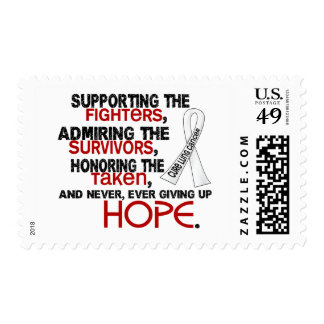 Supporting Admiring Honoring 3.2 Lung Cancer Postage