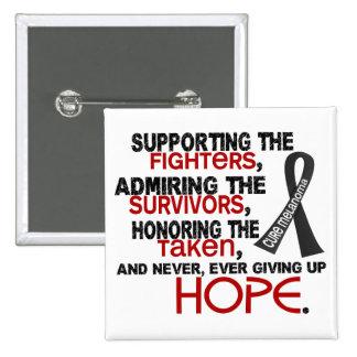 Supporting Admiring Honoring 3.2 Melanoma Pinback Buttons