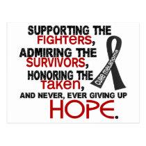 Supporting Admiring Honoring 3.2 Melanoma Postcard