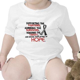 Supporting Admiring Honoring 3.2 Melanoma Baby Bodysuits