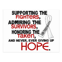Supporting Admiring Honoring 3.2 Mesothelioma Postcard
