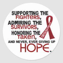 Supporting Admiring Honoring 3.2 Multiple Myeloma Classic Round Sticker