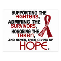 Supporting Admiring Honoring 3.2 Multiple Myeloma Postcard