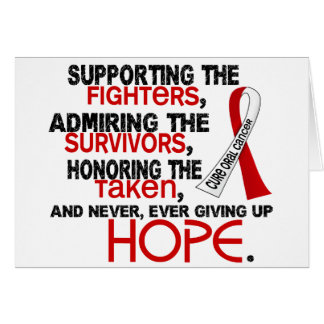 Supporting Admiring Honoring 3.2 Oral Cancer Card