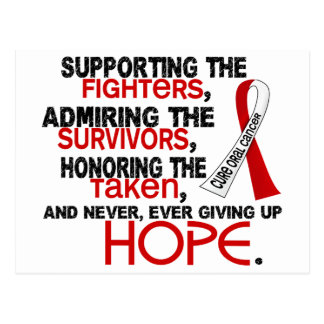 Supporting Admiring Honoring 3.2 Oral Cancer Postcard