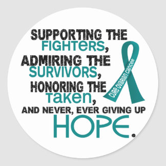 Supporting Admiring Honoring 3.2 Ovarian Cancer Classic Round Sticker