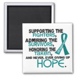 Supporting Admiring Honoring 3.2 Ovarian Cancer Fridge Magnets