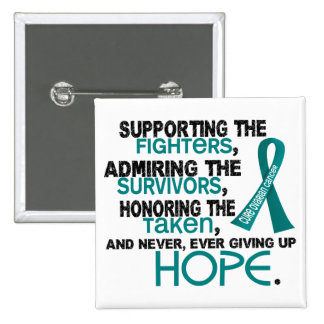 Supporting Admiring Honoring 3.2 Ovarian Cancer Pinback Button