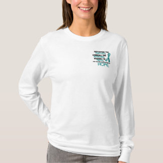 Supporting Admiring Honoring 3.2 Ovarian Cancer T-Shirt