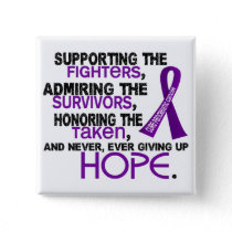 Supporting Admiring Honoring 3.2 Pancreatic Cancer Pinback Button
