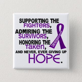 Supporting Admiring Honoring 3.2 Pancreatic Cancer Pinback Button