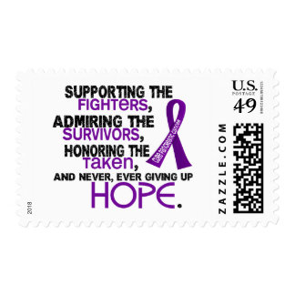 Supporting Admiring Honoring 3.2 Pancreatic Cancer Postage Stamp