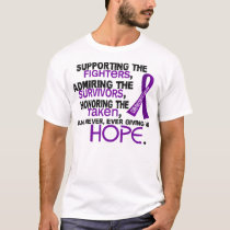 Supporting Admiring Honoring 3.2 Pancreatic Cancer T-Shirt