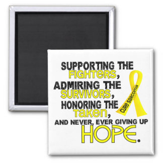 Supporting Admiring Honoring 3.2 Sarcoma 2 Inch Square Magnet