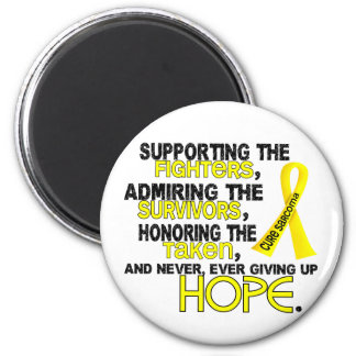 Supporting Admiring Honoring 3.2 Sarcoma 2 Inch Round Magnet