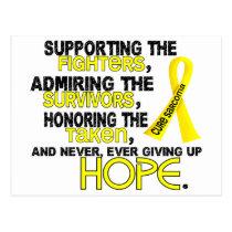 Supporting Admiring Honoring 3.2 Sarcoma Postcard