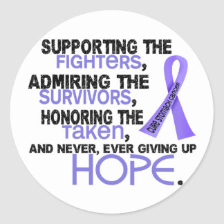 Supporting Admiring Honoring 3.2 Stomach Cancer Sticker
