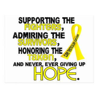 Supporting Admiring Honoring 3.2 Testicular Cancer Postcard