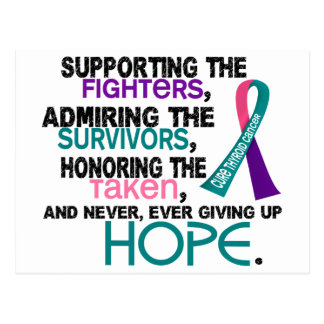 Supporting Admiring Honoring 3.2 Thyroid Cancer Postcard