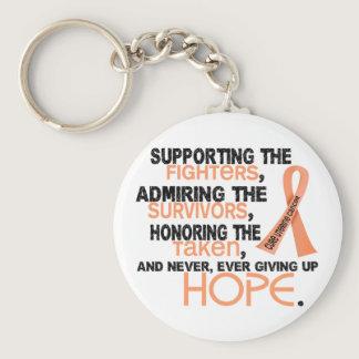 Supporting Admiring Honoring 3.2 Uterine Cancer Keychain
