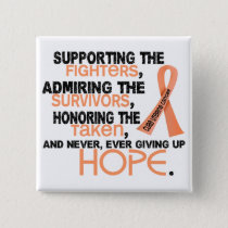 Supporting Admiring Honoring 3.2 Uterine Cancer Pinback Button